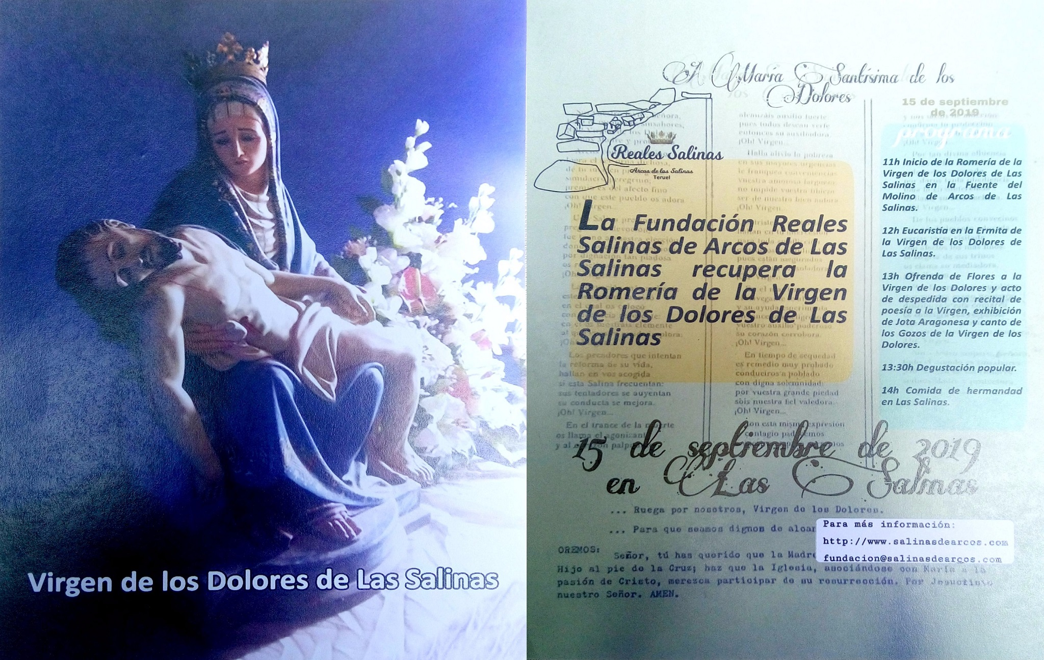 15 de Septiembre 2019 Romeria a la Virgen de los Dolores Arcos de las Salinas